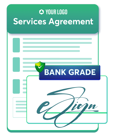 This is an icon for services agreement. Use Revv, a document management solution for all your business document needs.