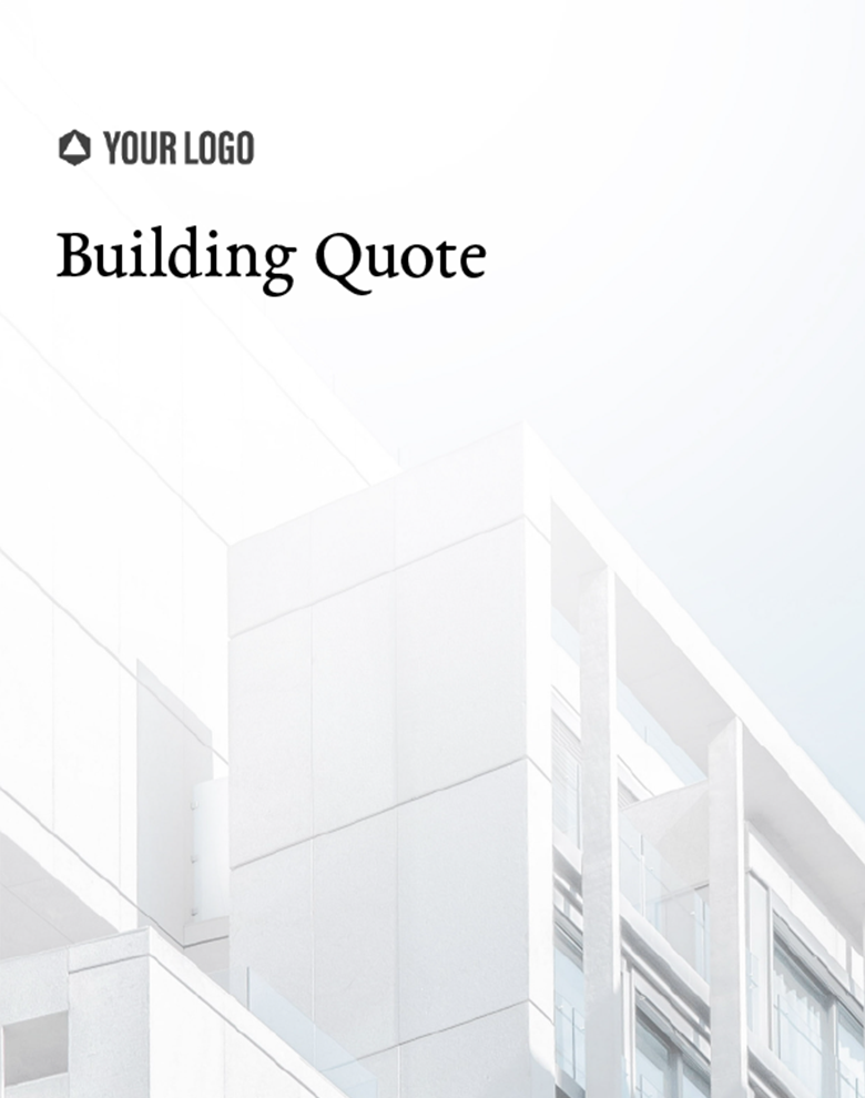 Proposal Template for Building Quote