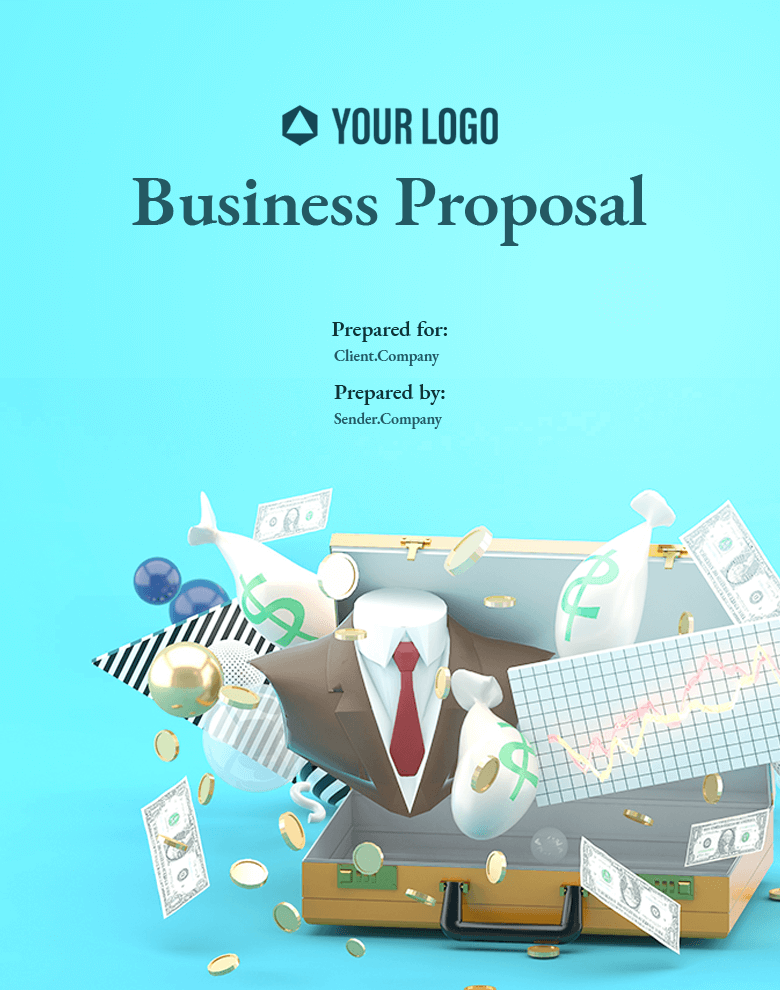 Revv business proposal templates examples will help you talk about market size and opportunity.