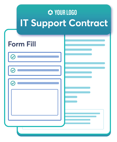 This is an icon of IT support contract. Use Revv to draft, send, share, store and esign documents.