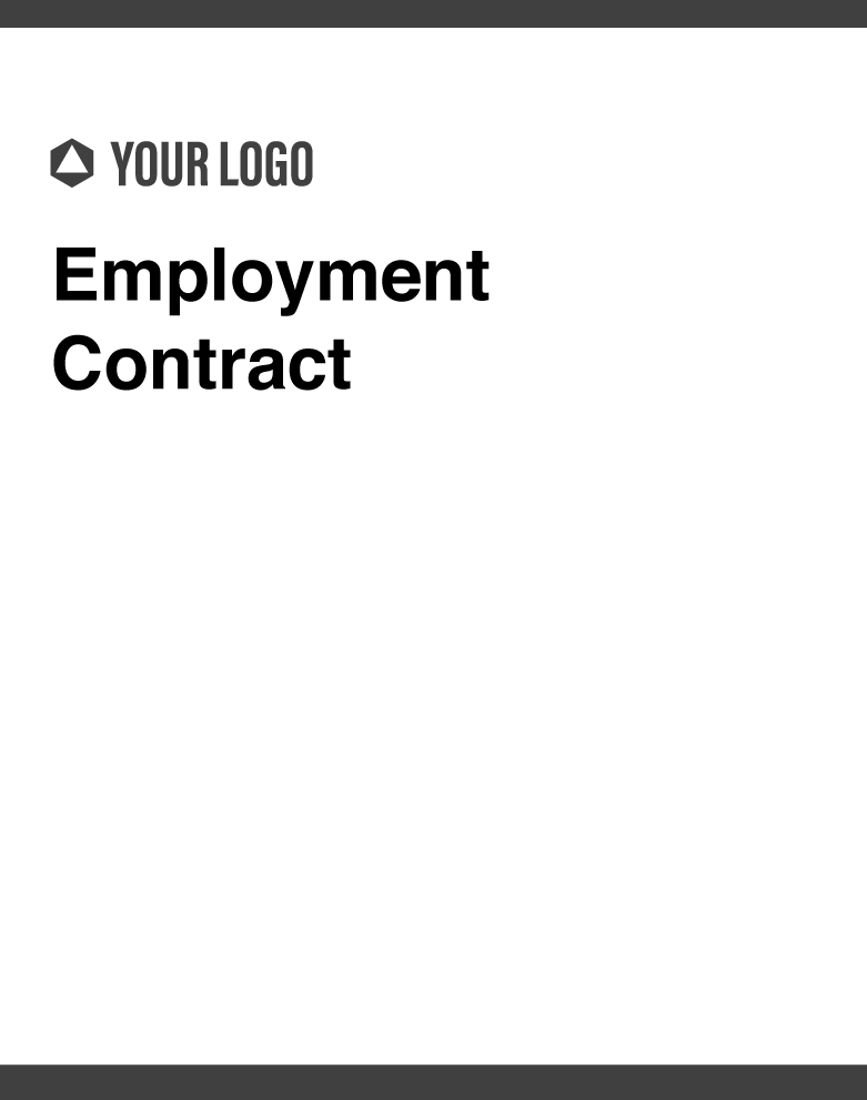 Standard Template for Employment Contract