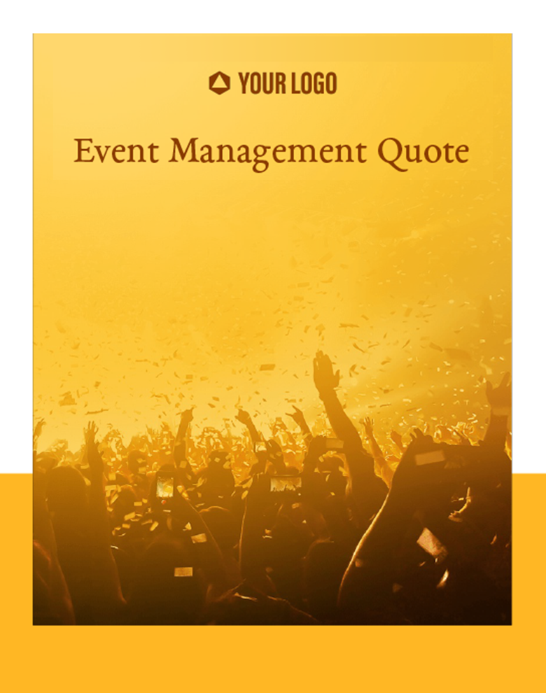 Proposal Template for Event Management Quote