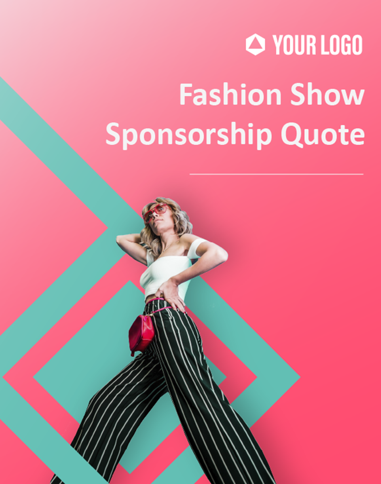 Proposal Template for Fashion Show Sponsorship Quote