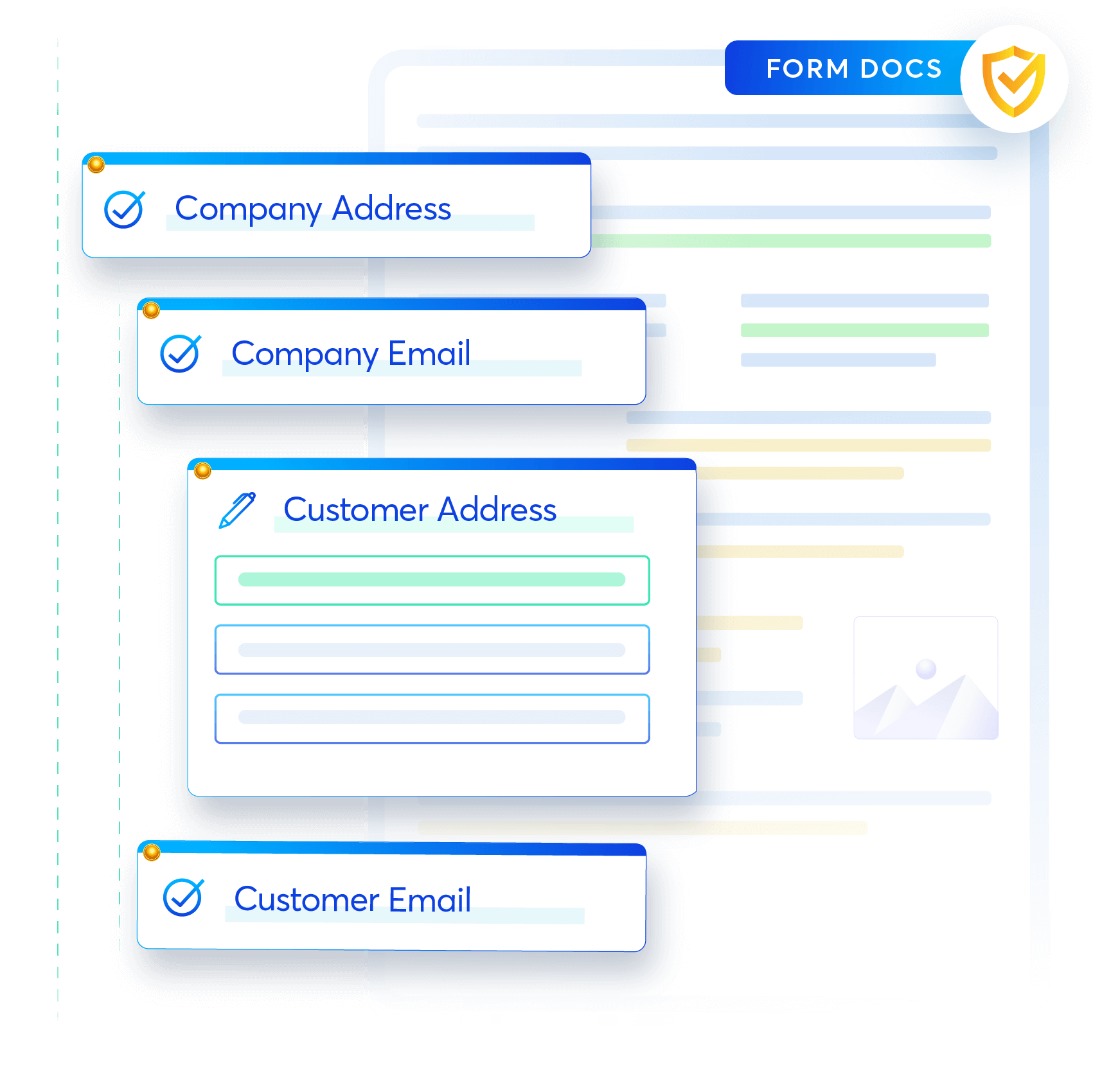 Collect specific information you need and create required documents with right inputs to reduce unnecessary back and forth email exchange for updates and changes.