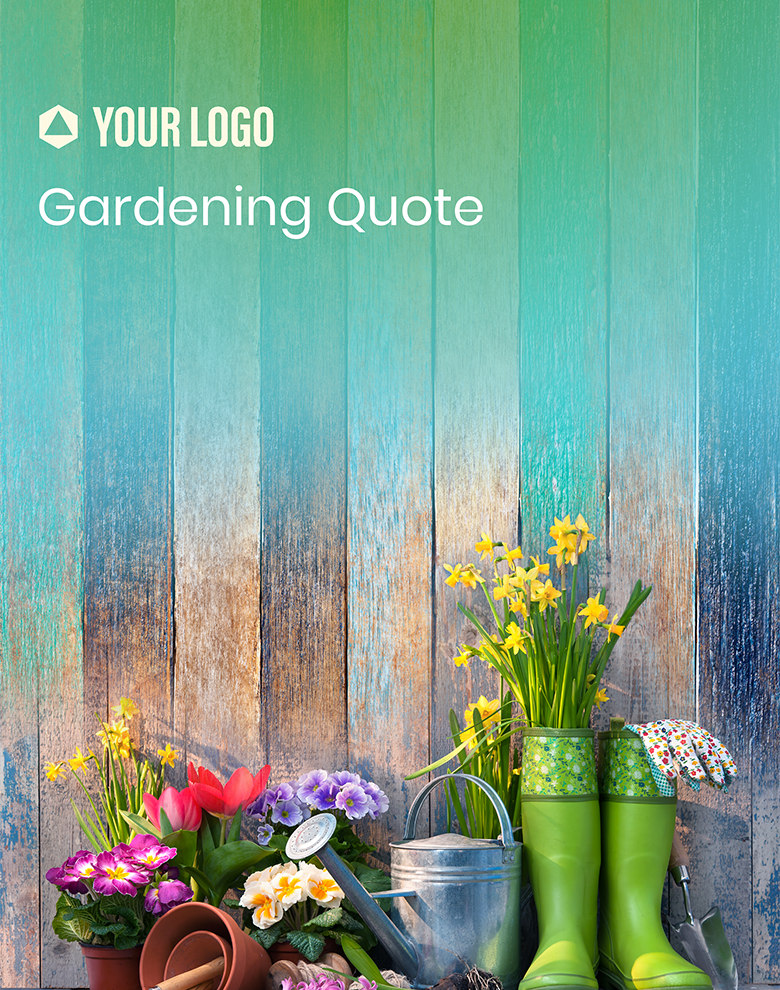 Proposal Template for Gardening Quote