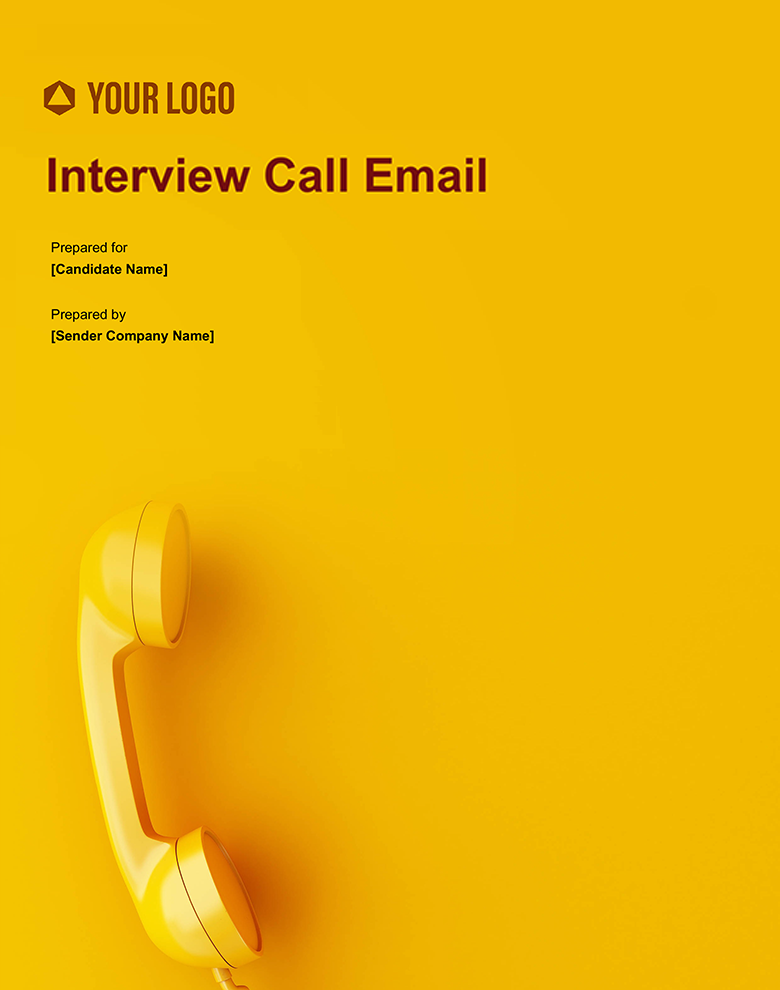 Proposal Template for Interview Call Email
