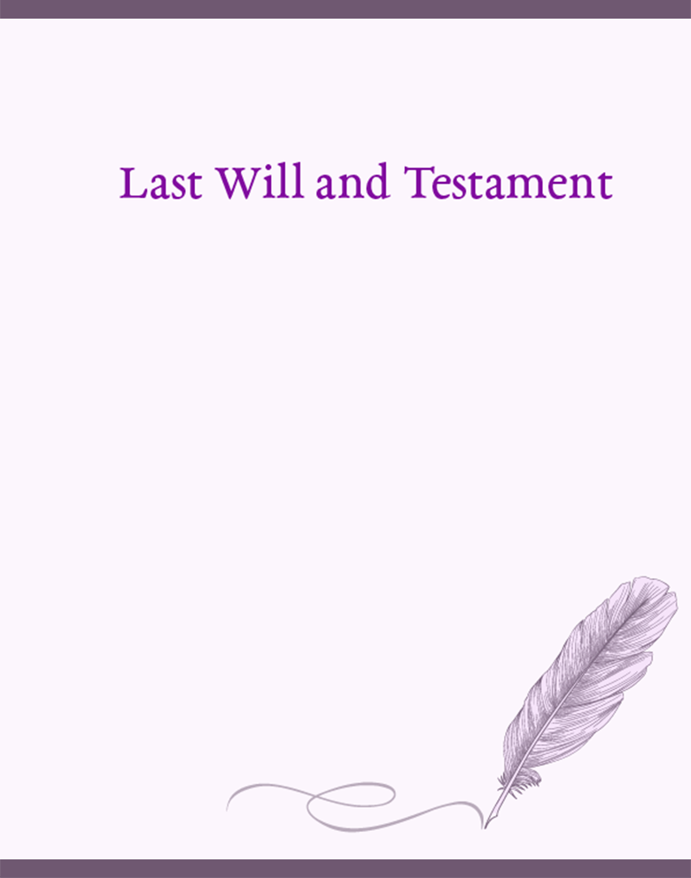 Proposal Template for Last Will and Testament Template