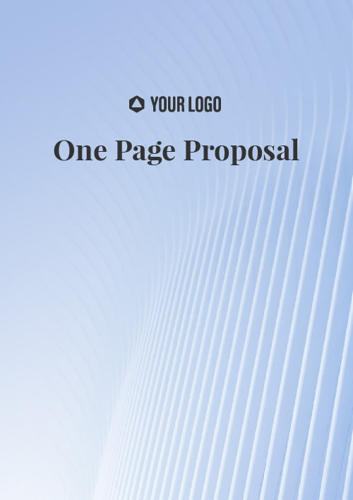 Proposal Template for One Page Proposal