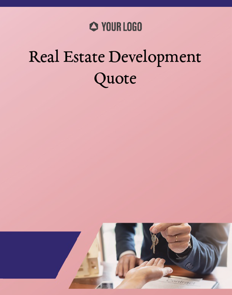 Proposal Template for Real Estate Development Quote