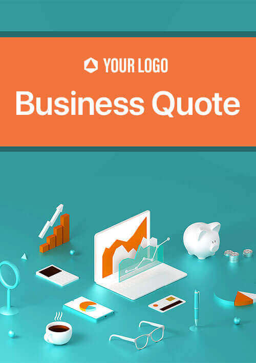 Use Revv's business quote template - Further design, add content & line items, images, pricing, etc., as per your needs.