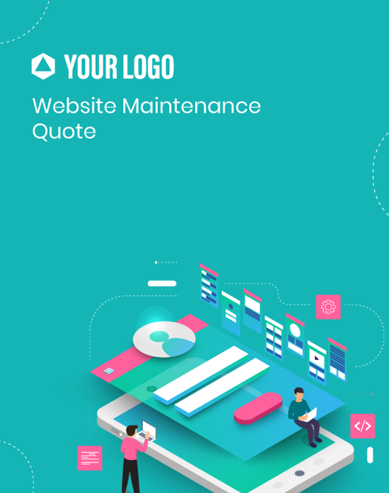 Proposal Template for Website Maintenance Quote