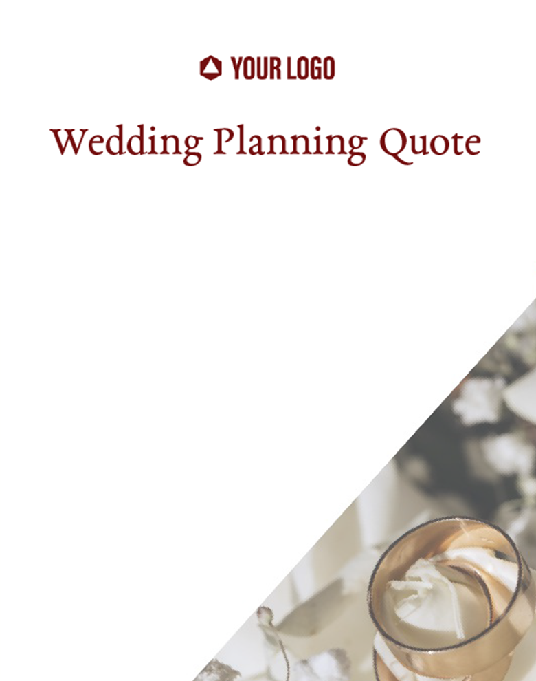 Proposal Template for Wedding Planning Quote
